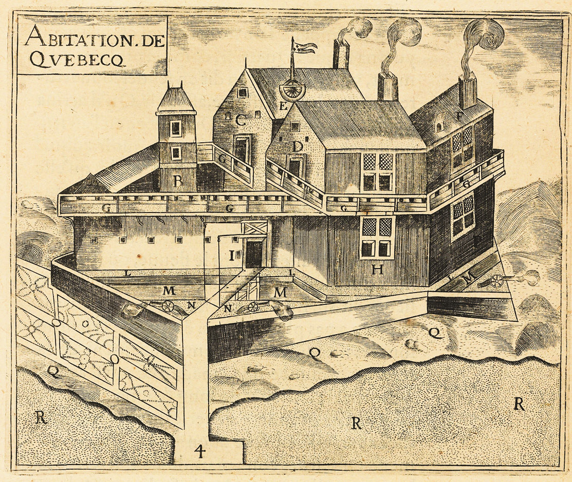 The Habitation de Québec, a French Regime trading post