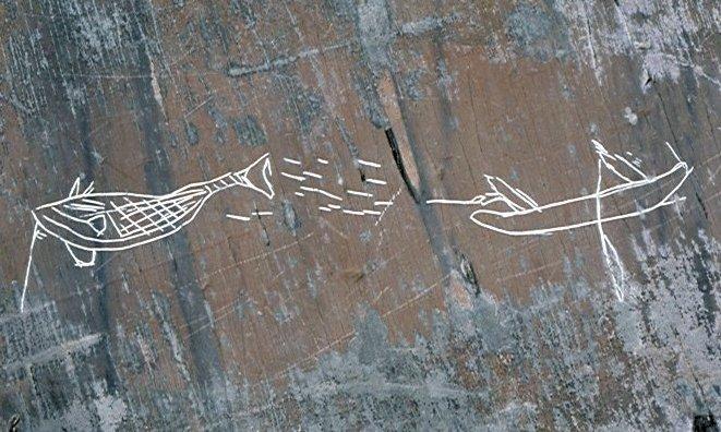 Pétroglyphes mi'kmaq au Parc national de Kejimkujik