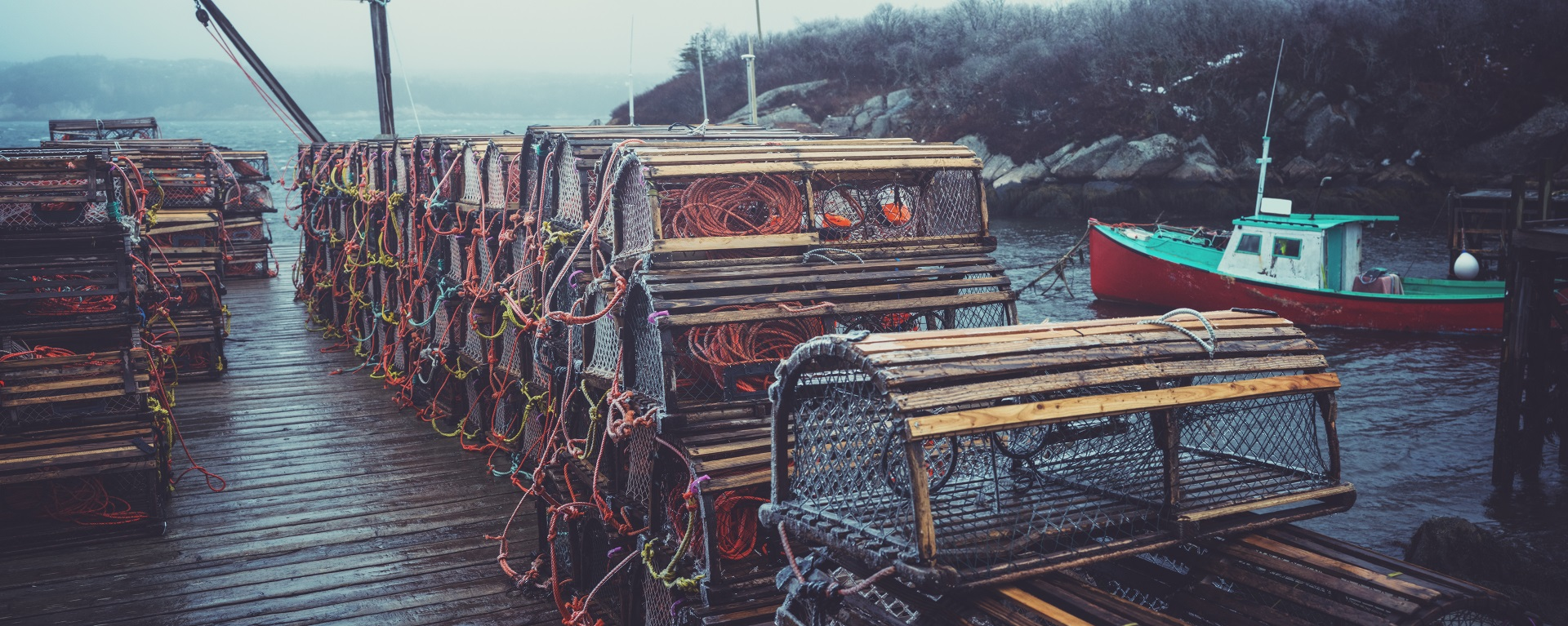 Lobster fishing harbour